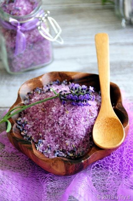 levanduľová soľ