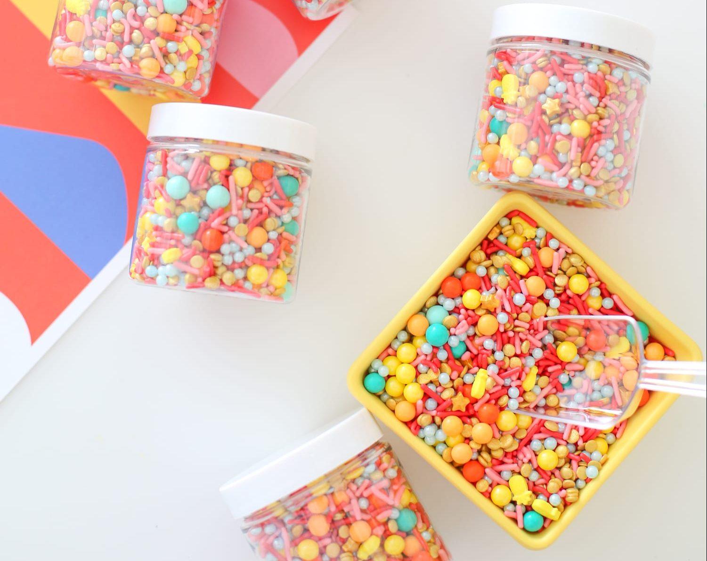 príprava mixu cukríkov